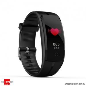 QS100 Multifunctional Bluetooth Smart Bracelet Watch Fitness Tracker - Black