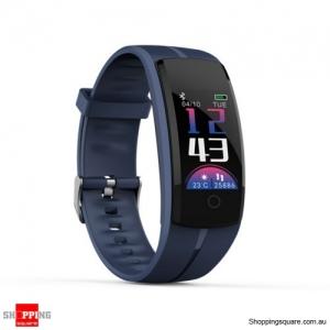 QS100 Multifunctional Bluetooth Smart Bracelet Watch Fitness Tracker - Blue