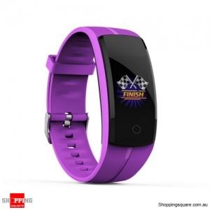 QS100 Multifunctional Bluetooth Smart Bracelet Watch Fitness Tracker - Purple