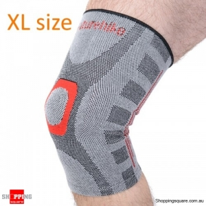 Elastic breathable Sport Seamless Kneepad Gym Knee Support Basketball Running Protector Shinguard - XL