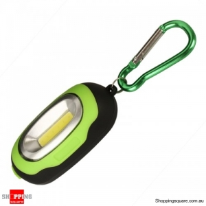 3-mode Portable Magnetic Key Chain Flashlight Torch LED Light Lamp Camping Lantern - Green