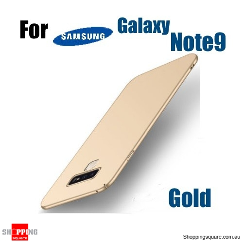 Note 9 Slim Back Cover Hard PC Protective Case For Samsung Galaxy Note 9-Gold