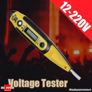 ABS Materials Digital Electric Voltage Tester Meter Pen 12-220V AC/DC