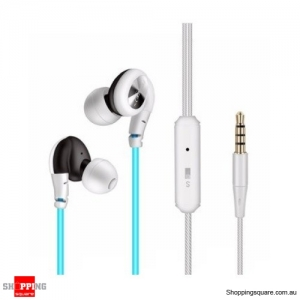 1.25M In-ear Sport Running Noise Isolating Sweat-proof Earphone Earbuds with Mic for Xiaomi-lue
