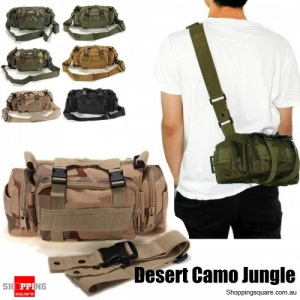 Outdoor Sports Camouflage Backpack Rucksack Camping Hiking Waist Bag Pack-Desert Camo Jungle