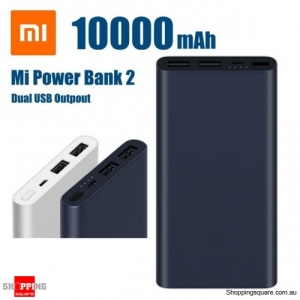 Xiaomi 10000mAh Power Bank Quick Charge 3.0 Charger 2 Dual USB for Mobile Phone - Navy