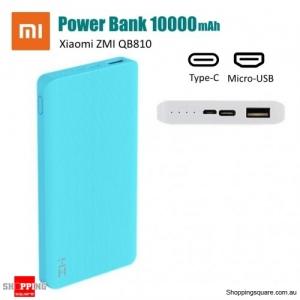 Xiaomi ZMI QB810 10000mAh Power Bank Two-way Quick Charge with Type-C & Micro USB - Blue