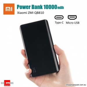 Xiaomi ZMI QB810 10000mAh Power Bank Two-way Quick Charge with Type-C & Micro USB - Black