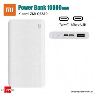 Xiaomi ZMI QB810 10000mAh Power Bank Two-way Quick Charge with Type-C & Micro USB - White