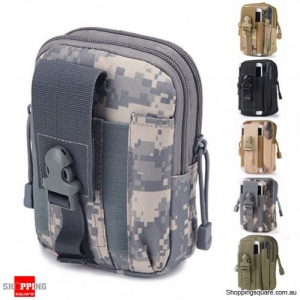 Tactical Military Molle Waist Bag Pack Portable Mini Bag Nylon Phone Wallet For Travel Sports ACU Colour