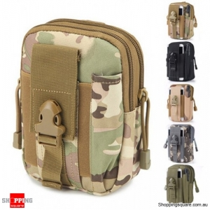 Tactical Military Molle Waist Bag Pack Portable Mini Bag Nylon Phone Wallet For Travel Sports CP Colour