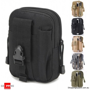 Tactical Military Molle Waist Bag Pack Portable Mini Bag Nylon Phone Wallet For Travel Sports Black Colour