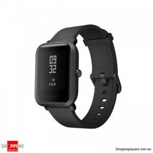 Xiaomi AMAZFIT Bip Pace Youth GPS GLONASS Bluetooth 4.0 IP68 Smart Watch International Version-Black