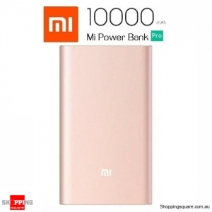 Xiaomi 10000mAh QC3.0 Polyme Power Bank Pro with Type-C Micro USB Cable - Gold