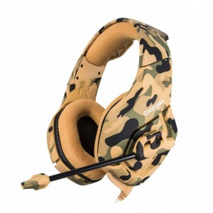 K1 Camouflage Gaming Headset with Mic - Yellow