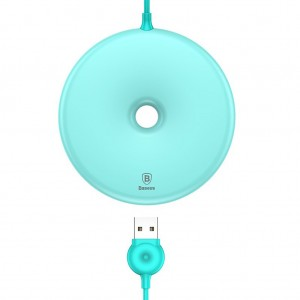 Baseus Donut Styled Wireless Qi Fast Charging Pad for iPhone Samsung - Blue Colour