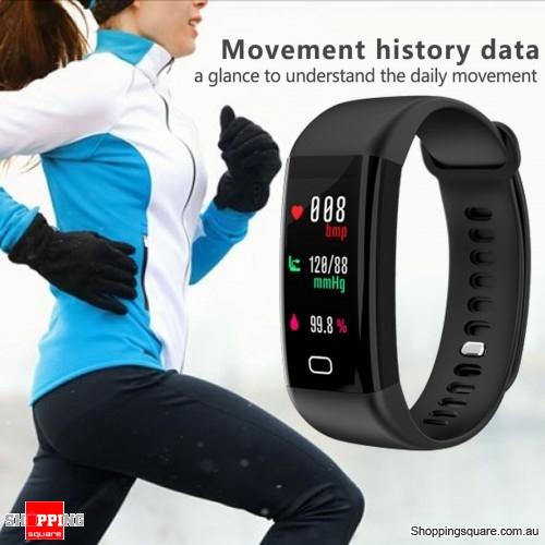 F07 Waterproof Bluetooth Smart Watch Fitness Tracker - Black