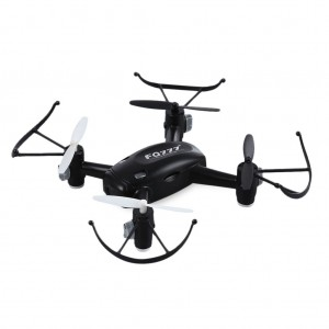 FQ10A Rechargeable RC Quadcopter Drone with Wifi Camera 720P - Black