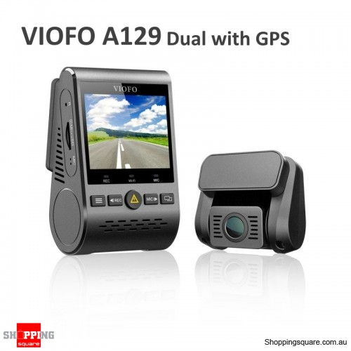 Viofo A129 2 inch 1080P Car Dash Camera Duo Dual Channel 5GHz Wi-Fi Full HD DVR with GPS