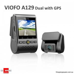 "Viofo A129 2"" 1080P Car Dash Camera Duo Dual Channel 5GHz Wi-Fi Full HD DVR with GPS"