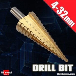 4-32mm HSS Triangle Shank Pagoda Step Drill Bit Tool