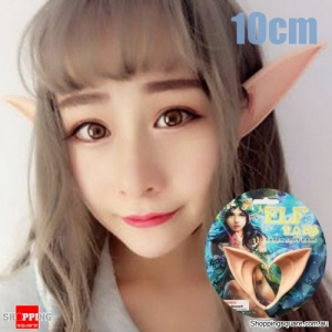 Mysterious Angel Elf Ears fairy Cosplay Accessories Halloween Party Latex Soft Pointed Prosthet - 10cm
