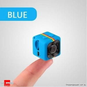 SQ11 Mini Camera HD Camcorder HD Night Vision 1080P Sports USB Mini Video Recorder - Blue