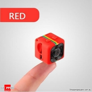 SQ11 Mini Camera HD Camcorder HD Night Vision 1080P Sports USB Mini Video Recorder - Red