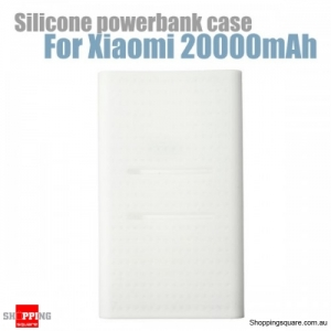Silicone Protective Back Soft Cover Case For Xiaomi Power Bank 2 20000mAh - White
