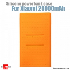 Silicone Protective Back Soft Cover Case For Xiaomi Power Bank 2 20000mAh - Orange