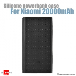 Silicone Protective Back Soft Cover Case For Xiaomi Power Bank 2 20000mAh - Black