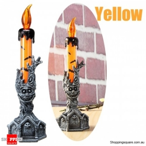 Halloween Skull Skeletal Hand Stand LED Candle Light Party Decorations Green Colour