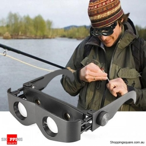Portable Glasses Style Magnifier Telescope Binoculars Tools For Fishing Hiking