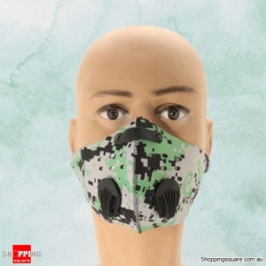 Breathable Anti-dust Mask Protection Cycling Activated Carbon Filter Dust Mask - Green