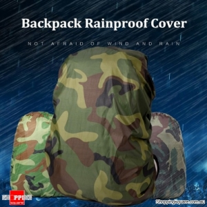 30-40L Backpack Rain Cover Waterproof Protective Bag Cover Camping Dust Rainproof Protector - Jungle camouflage