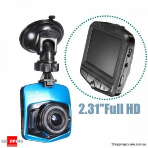 "2.31"" Full HD 1080P Car DVR Vehicle Camera Video Recorder LCD Dash Cam - Blue"