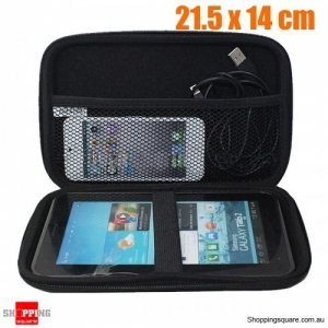 7 Inch PU Leather Carry Case Cover Multi Function Holder Bag for Earphone SSD
