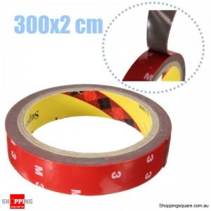 3 Meters Auto Acrylic Foam Double Sided Attachment Adhesive car wash resistant Tape 20mm