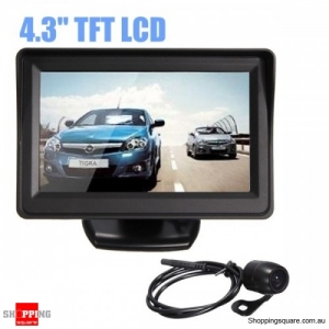 4.3Inch TFT LCD Car Rear View Monitor Reverse Camera Water-proof shock-proof