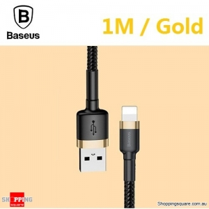 Baseus Premium 1M USB Data Fast Charging cable for iPhone XR XS Max X 8 7 SE Gold Colour