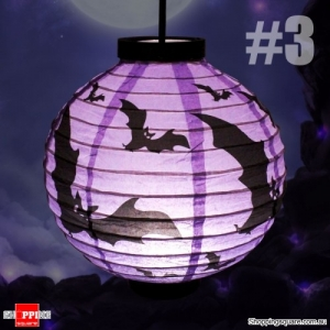 Halloween 20cm height LED Paper Lantern Pumpkin Spider Bat Lights Hanging Lamp Props Decoration Party#3