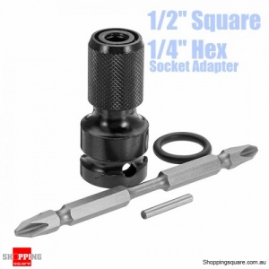 1/2 Inch Square to 1/4 Inch Hex Telescopic Drill Chuck Converter With 100mm PH2 Screwdriver Bit