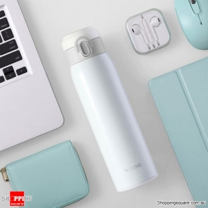 XIAOMI VIOMI 460ML Stainless Steel Double Wall Vacuum Insulated Water Bottles BPA-free - White