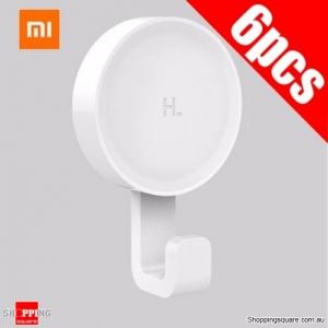 6Pcs Xiaomi Mi Home Happy Life holder Hook Wall Hangers for Coat Towel Keys 3M Glue