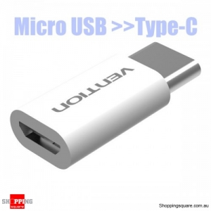 USB 3.1  Micro USB to Type-C Converter Connector Adapter - Black