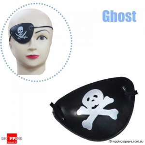 Halloween Pirate Eye Patch Costumes Pirates of Accessories Cyclops Goggle crossbones - Ghost