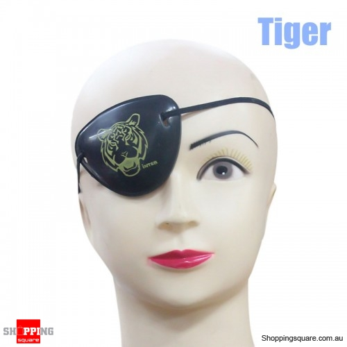 Halloween Pirate Eye Patch Costumes Pirates of Accessories Cyclops Goggle crossbones - Tiger