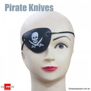 Halloween Pirate Eye Patch Costumes Pirates of Accessories Cyclops Goggle crossbones - Pirate Knives