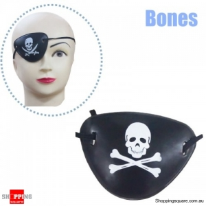 Halloween Pirate Eye Patch Costumes Pirates of Accessories Cyclops Goggle crossbones - Bones