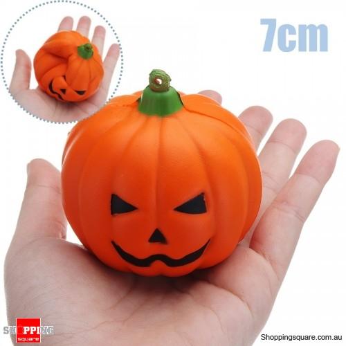 7CM Halloween Squishy Simulation Super Slow Rising Smile Pumpkin Squishy Fun Toys Decoration - Random smiling face